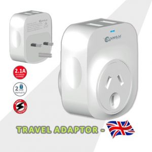 USB Travel Adaptor- UK