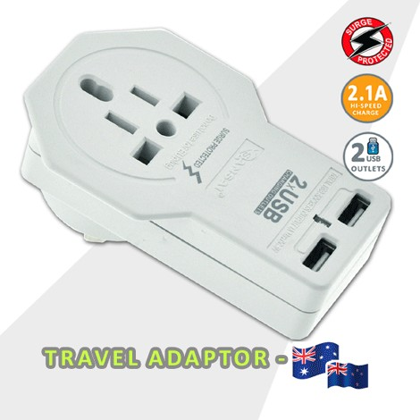 World Travel Adaptor + USB Charger